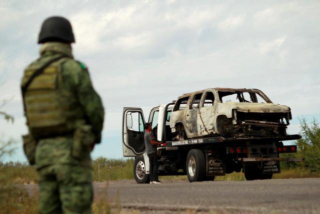 멕시코 카르텔 총격 용의자 1명 체포