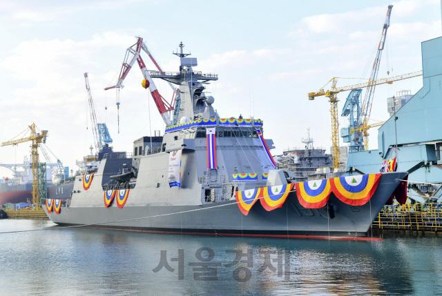 필리핀 해군 차기 핵심전력 '한국산 호위함' 2범함 진수