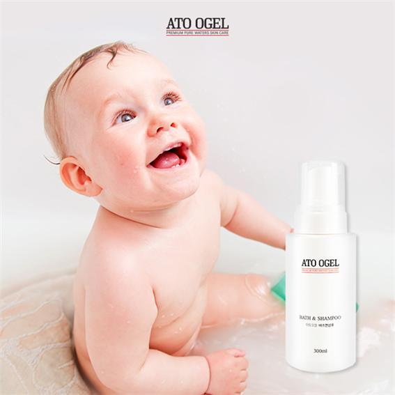 아기바스앤샴푸 아토오겔, '순한 거품세정'으로 유아·신생아 목욕용품으로 인기