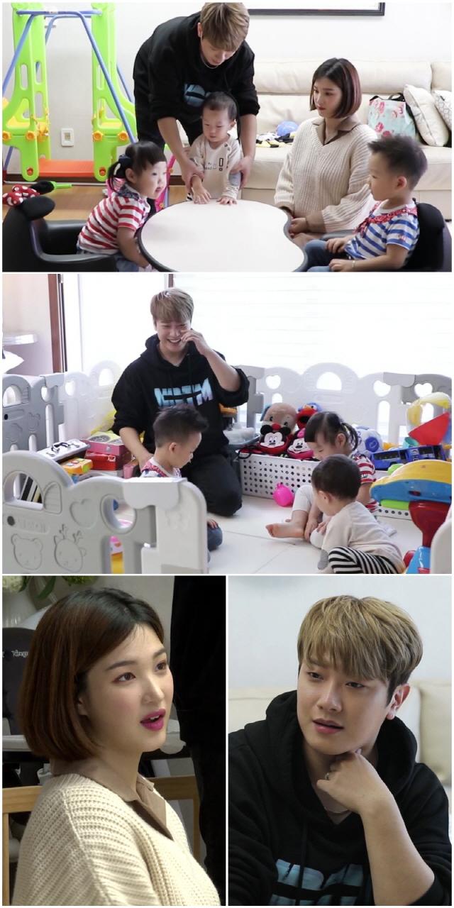 '살림남2' 최민환X율희, 미리 겪어 본 쌍둥이 육아 체험..영혼 가출 '신세계'