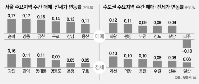 정책이 달구는 시장...상한제에도 서울 아파트값 22주째 상승
