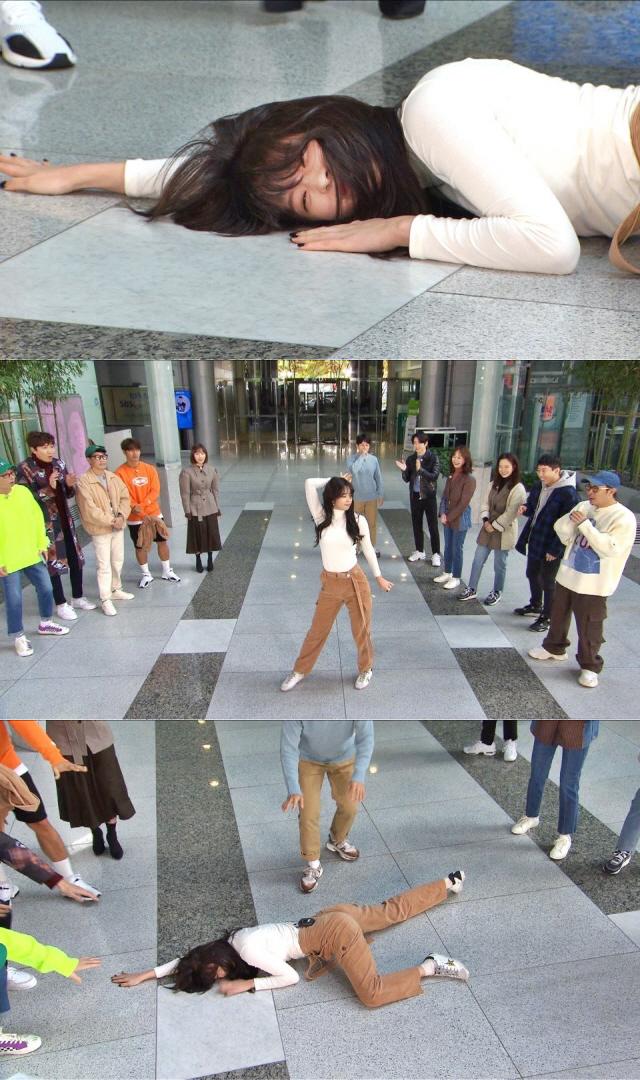 '런닝맨' 서은수, 녹화장 초토화시킨 신개념 '땅바닥 댄스'
