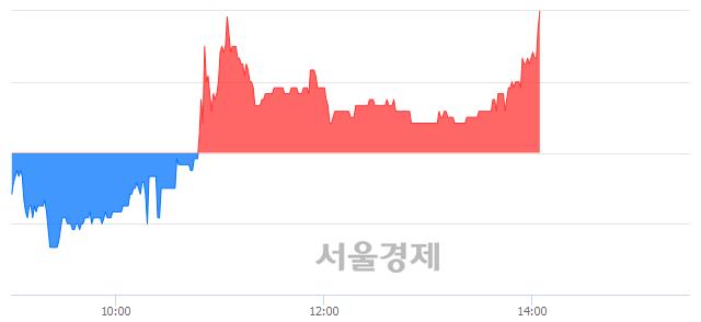 코아가방컴퍼니, 3.33% 오르며 체결강도 강세 지속(132%)