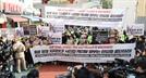 """중국대사관 앞서 """"홍콩 항쟁 지지"""" 외친 대학생 단체들"""
