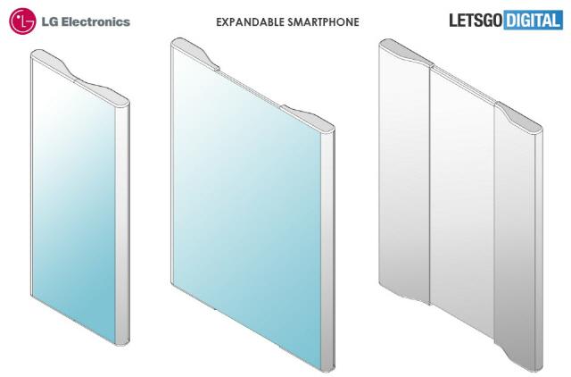 '잡아늘리면 화면 두배로'...LG, 폰 특허 공개