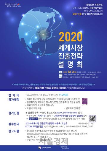 KOTRA, '세계시장 진출전략 설명회' 조기 개최