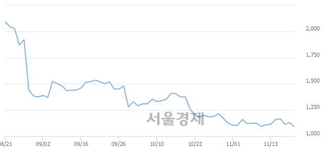 코에이디칩스, 장중 신저가 기록.. 1,070→1,065(▼5)