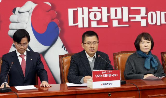 황교안 '청와대 선거개입은 여론조작, 민주주의 훼손하는 부정선거'