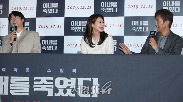 이시언-안내상-왕지혜, 화기애애 (아내를 죽였다 언론시사회)