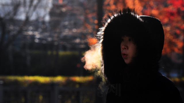 입김이 뿜어져 나오는 추위