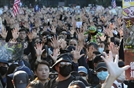 '다섯 손가락' 펼친 홍콩 시민들