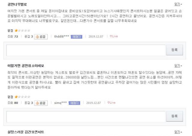 일찍 끝내고 '無보상?' 김건모 콘서트 '호날두 노쇼'와 똑같네
