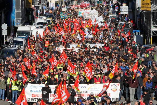 프랑스 연금개혁 저지 2차 총파업…'철회때까지 투쟁'