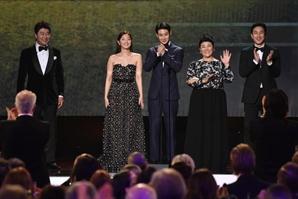 '기생충' 미국영화배우조합 시상식서 최고영예 작품상 수상