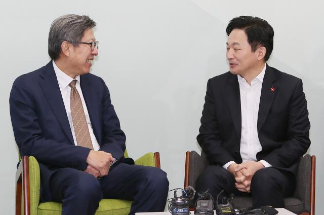 박형준 '원희룡, 보수통합 참여해달라'