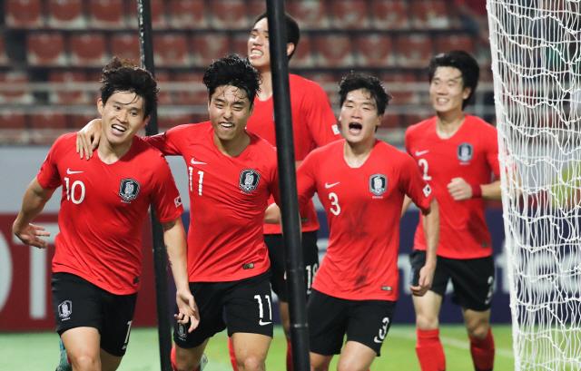 '김대원,이동경 골'...한국 남자축구 9회 연속 올림픽 티켓 따내