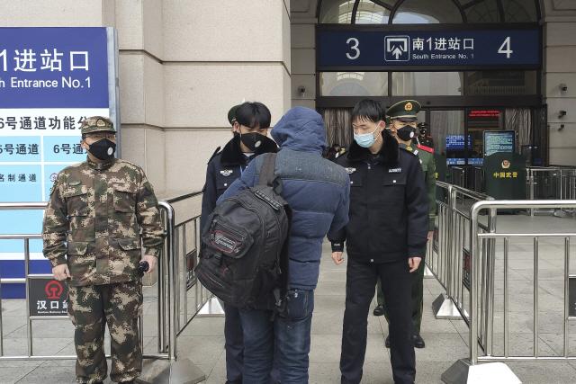 '중국 '우한 폐렴' 발원지 인근 황강시 봉쇄'AFP