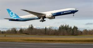 보잉, '777X' 첫 시험비행 성공...내년 상용화