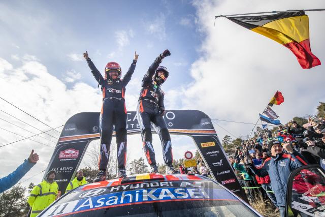 현대차 월드랠리팀, 2020 WRC 첫 대회 몬테카를로 랠리 우승