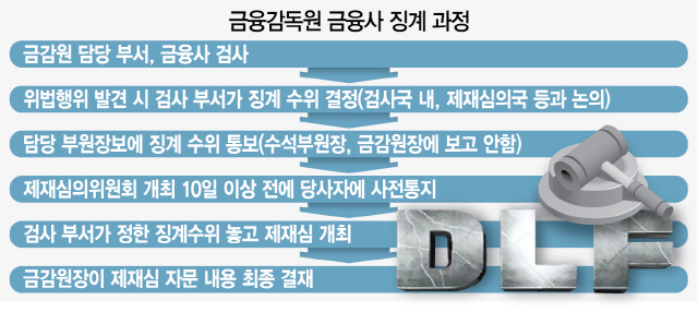 CEO 중징계, 사실상 금감원 局차원서 결정?