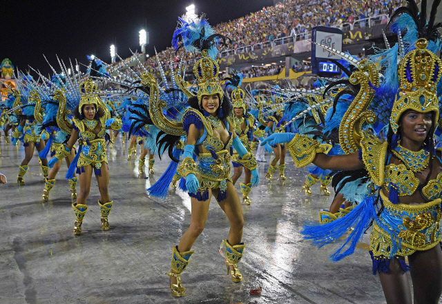 [사진] 코로나 비껴간 '브라질 카니발 축제'
