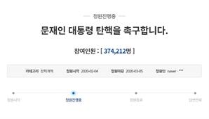 """""""우리나라 대통령으로 볼 수 없다""""…'문재인 대통령 탄핵' 청원 40만 향해"""