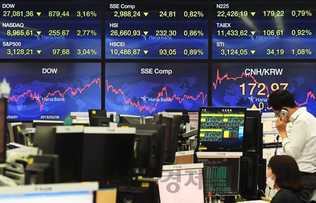 '코로나19' 확산 여파로 불안한 국제 주식시장