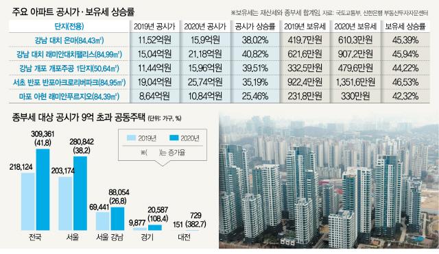 '래대팰' 전용면적 84㎡ 한채만 있어도 보유세 621만 → 907만원 '날벼락'