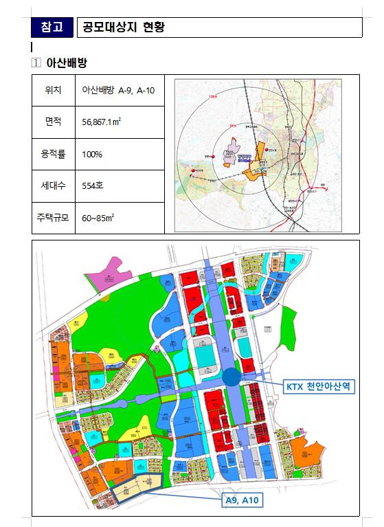 LH, 다음달 충남 아산배방지구 택지공모사업자 접수