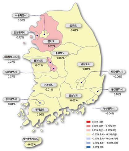 풍선 빠진 수·용·성…성남 집값 상승률은 마이너스로