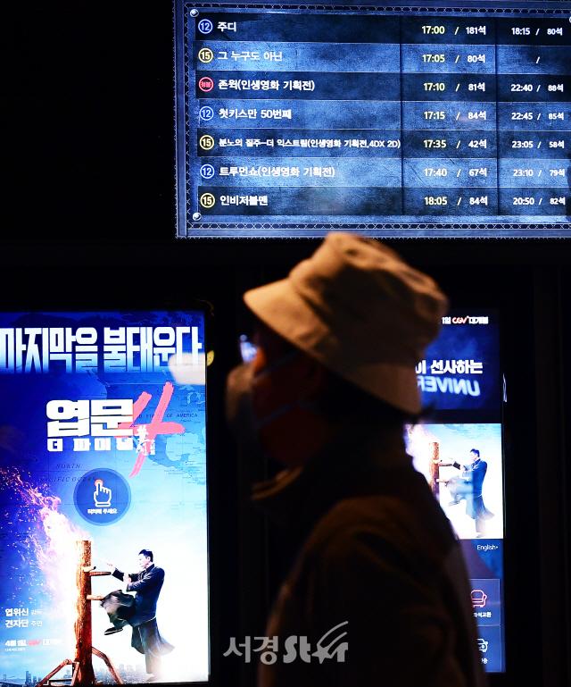 코로나19 여파로 영화관 관객수 최저치