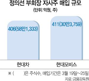 자사주 매입나선 정의선...1주 만에 평가익 184억원