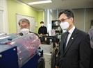 [SEN]박원주 특허청장, 코로나19 연구기업 다이노나 방문