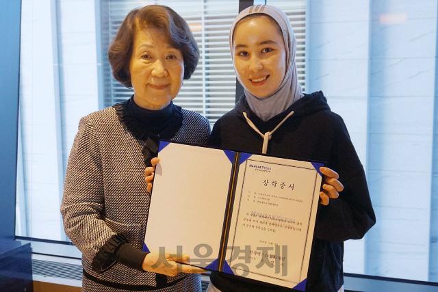 한세예스24문화재단, 외국인 장학생에 장학금 수여