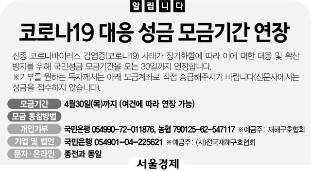 [알립니다] 코로나19 대응 성금 모금기간 연장