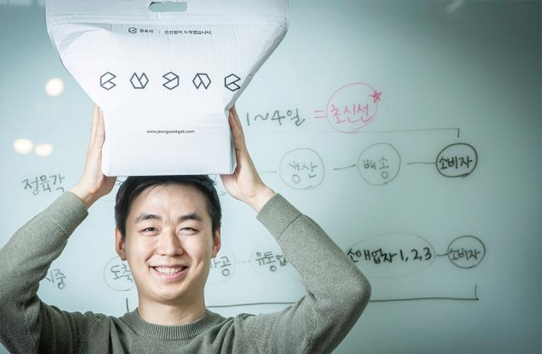 '돼지고기 마니아, '초신선 푸드테크' 시스템을 만들다' 정육각 김재연 대표