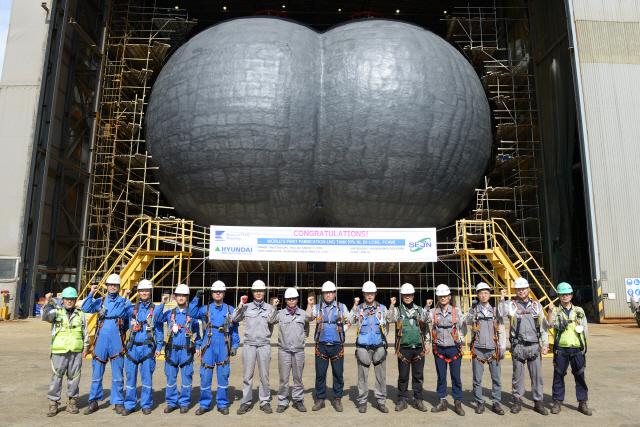 세진중공업, LNG 운반선용 화물탱크 초도품 출하