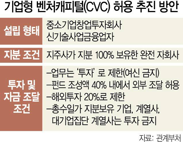 대기업 CVC 원칙적 허용...총수일가 보유회사는 투자 안돼