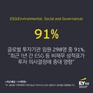 """기관투자자 10명 중 9명, """"ESG 투자 의사결정에 중대한 영향"""""""