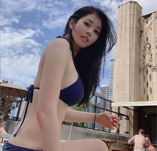서동주, '파란 비키니'로 섹시 폭발…누구나 부러워할 S라인 몸매