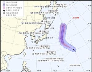 13호 태풍 '구지라' 일본 방향 북서진…한반도는 영향 없을듯