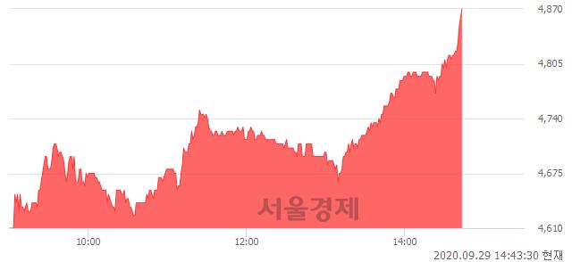<코>와이지-원, 전일 대비 7.05% 상승.. 일일회전율은 0.79% 기록