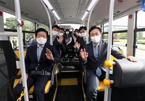 현대차 수소전기버스, 국회 누빈다