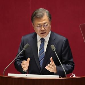 """文, 국회서 '탄소중립' 외치자…한전 """"脫석탄"""" 선언"""