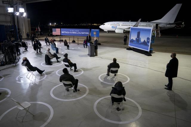 [미 대선 D-3]'끝까지 NO마스크 트럼프 vs 거리두기 유세 바이든'