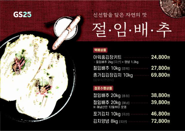 """""""나 혼자 김장 한다""""…편의점에 '1인용 김장키트' 등장"""