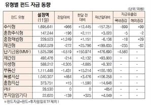 [표]유형별 펀드 자금 동향(11월 11일)