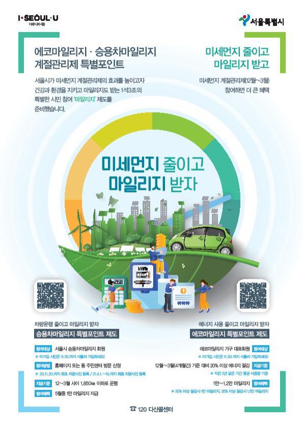 서울시 에코마일리지 회원, 올해 6개월간 온실가스 24만7,000여t 감축