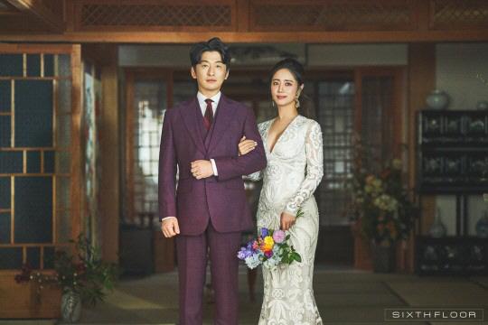 최송현♥이재한, 웨딩화보 공개 '운명커플 결혼해요…기쁜 마음 나누고 싶어요'