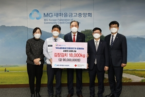 새마을금고, 취약계층에 김장김치 1만 8,000kg 기부